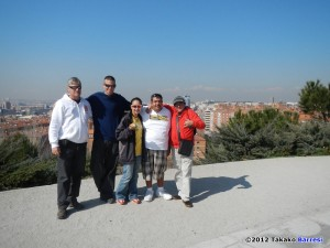 Over Madrid with Carlos, JB, TK, Ben and Tonet.