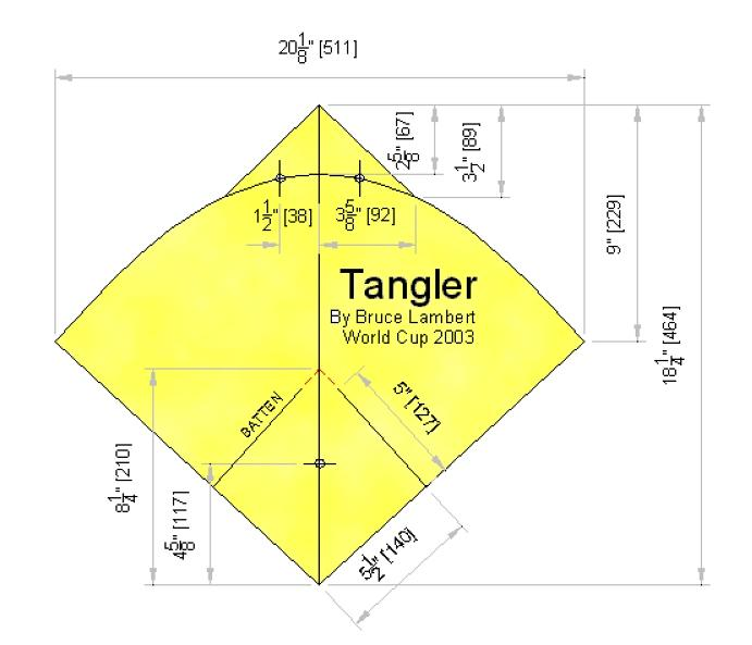 Issue  Tangler Fighter Kite Plans