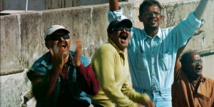 Patang (Film) Jayesh and friends cheering