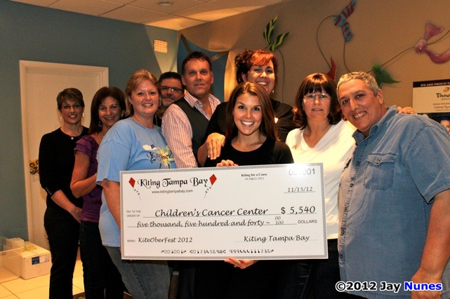 KiteOberFest - The Children's Cancer Center - Big Check for $5,540.00