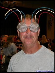 Lee Sedgwick in bug glasses